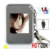 Wholesale 1 inch LCD Mini Digital Photo Picture Frame Viewer with Keychain Bithday Gift DHL Free Ship