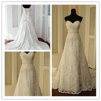 vintage wedding dresses lace - 2012 NEW Vintage white Ivory Lace Train Bridal Gown Wedding Dress Custom Lace Wedding Dresses