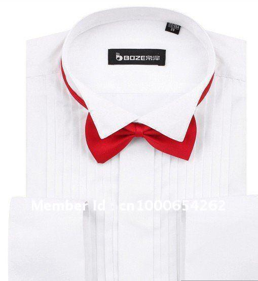 Wholesale 100 cotton tuxedo shirt white black pink three 100 cotton tuxedo shirt