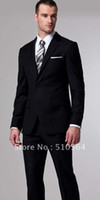 Wholesale high quality s cashmere wool suit Custom made Men Business black suit