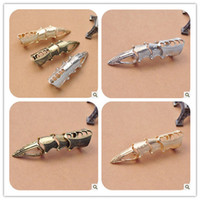 Wholesale Fashion Vintage Punk Rings Rotating Long Joints Armor Finger Nail Tail Ring J119
