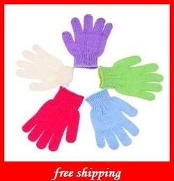 Wholesale Bath Scrub Gloves Hot Cloth Mitt Exfoliating Face or Body Bath Scrub Moisturizing gloves April Glove