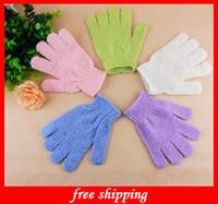 Wholesale Cloth Bath Mitt Exfoliating Gloves ECO Scrubber Face Body Moisturizing Spa Accessories