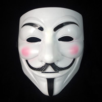 Wholesale V Mask Vendetta party mask Halloween Mask Party Face Mask Halloween Mask Super Scary QQF11 EMS free