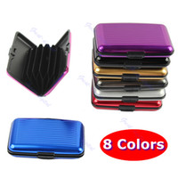 business card case - Pocket Waterproof Business ID Credit Card Wallet Holder Aluminum Metal Case Box
