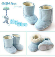Wholesale Warm and Cute winter Anti slip Baby Boots Toddler Infant s Shoes Footwear Baby pre walkers V7081