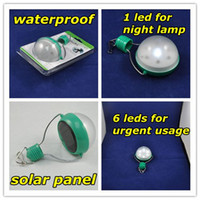 Wholesale Freeshipping Solar panel LED light for camping emergeny light Multi switch high off low