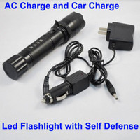 Wholesale New Type Multifunctional Led Flashlight Self Defense AC Charger Car Charger Rechargeable Battery