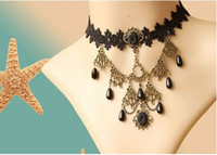 Wholesale Vintage Collar Handmade Lace Necklace Pendant Bridal Bridesmaid Fashion Jewelry JL