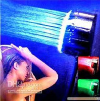 Exposed Contemporary LED Romantic Bathroom LED Hand Shower Head Temperature controlled RGB Color Novelty