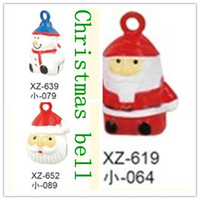 Wholesale pet bell products cat bell Christmas Santa claus snowman bell