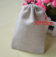 FreeShip 100 Pieces 10*15cm Linen Bag Sack Jewelry Bags Wedd...