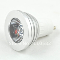 Wholesale W GU10 MR16 E27 Remote Control RGB LED Bulb Lamp Color Changing2pcs