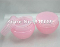 Wholesale 50pcs g PP cream jar cosmetic container cream bottle pink color TJ