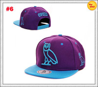 Wholesale Ovoxo Snapback Hats Cheap Adjustable Hats Purple Light Blue Stylish Ovoxo Cap High Quality Hat Sale