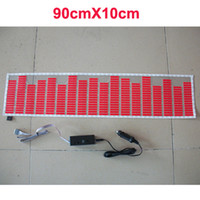 Wholesale Sound Music Activated EL Car Sticker Equalizer Glow Flash Multi Color x cm