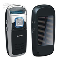 Wholesale Solar Powered Handsfree Bluetooth Car Kit with FM MP3 Player Support TF Card for CellPhone MP3
