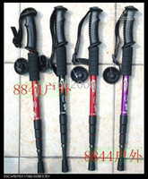 Rubber 125 Aluminum (free shipping) hiking pole walking sticks 4-section Straight bar Weight: 320g Size: Length125cm