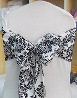 Wholesale White amp Black Flocking Taffeta Sash
