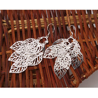 Cheap US Seller,Women's Dangle Earrings Fashion Leaf Style 925 Sterling Silver Ear Hook New 5Pairs lot S01628