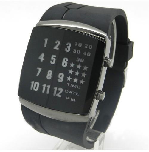 binary led watches digital gel sport wrist watch unisex watch see larger image