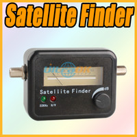 Wholesale 22KHz amp H V LED Satellite Finder Signal Meter For Sat Dish LNB Directv Black