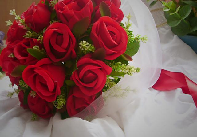 Artificial Wedding Bouquets Liverpool : Red roses hot sale popular artificial flowers wedding