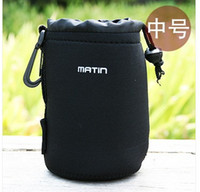 Wholesale camera DSLR Lens Soft Pouch Bag case Size M