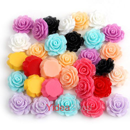 Wholesale 165 Mixed Colors Resin Rose Shaped Charms Flat Back Beads Cabochons mm Fit Jewelry DIY