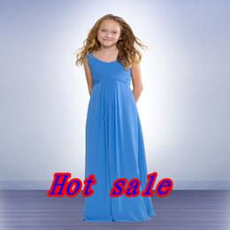 Simple junior fromal vestido de Una línea-V-cuello de la blusa de gasa de barrido vestido de novia vestido de dama de honor