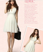 Wholesale 2012 summer wear new fair maiden outfit sexy temperament summer OL cultivate lady dress white