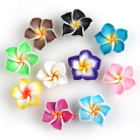 resin - 200 Mixed Colors Resin Plumeria Shaped Charms Flat Back Beads Cabochons Fit Jewelry DIY