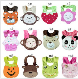 Wholesale Baby s Cute Cartoon Model Bibs New Arrival Infant s Pretty Cloths Mixed Pattern