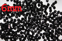 Wholesale 500pcs mm Bicone Faceted Crystal Loose Beads Black Color for wedding craft