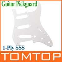 plates - White PVC Pickguard Scratch Plate Ply SSS For ST Strat Guitar I125