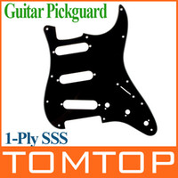 Wholesale Black PVC Pickguard Scratch Plate Ply SSS For ST Strat Guitar I125B