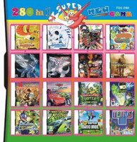 Wholesale 280 in Game in one Multi Games Card for dsi ndsl ds System