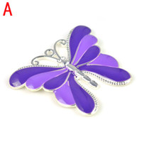 Wholesale Enamel colors metal colorful butterfly charm pendant for DIY necklace pendant jewelry accessories colors available PT
