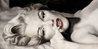 Wholesale Marilyn Monroe High Quality Hand Painted Portrait Art oil Painting On Canvas in different measurements versions