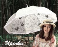 Wholesale Cheap wedding vintage black handmade gothic lolita cotton SUN BATTEN victorian LACE PARASOL UMBRELLA
