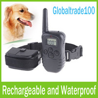Wholesale Rechargeable and Waterproof Levels M LCD Remote Control Dog Training Collars Free DHL