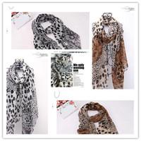 Wholesale High grade velvet chiffon leopard grain scarf splicing silk scarf fashion female silk piece
