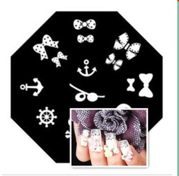 Wholesale PROMOTION Round Stainless Steel Image Plate scrap DIY Nail Art Stamping Template Set
