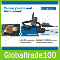 Wholesale Rechargeable and Waterproof M Remote Control Dog Training Collars for dog Free DHL