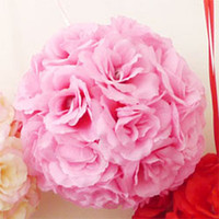 Wholesale Silk Kissing Pomander Rose Flowers Ball Bouquet Wedding Party Decoration