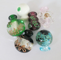 murano glass pendant - Lampwork Murano glass pendant Perfume bottle necklace Fashion mix color glass pendant glass jewelry