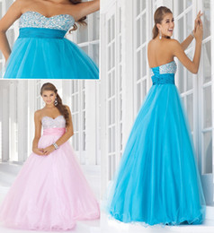 Wholesale Custom made a line organza heart ruffle length floor beaded lace up satin prom dresses evening dress