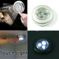 Wholesale LED Battery Powered Stick Tap Touch Light Lamp Silver