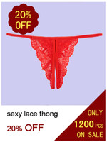 Wholesale sexy g string front open thong Hot sell lady panties lace t back Set Promotion
