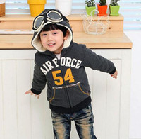 Wholesale Baby down jacket The pilot glasses child cotton padded jacket Down wear warm Outerwear with cap
